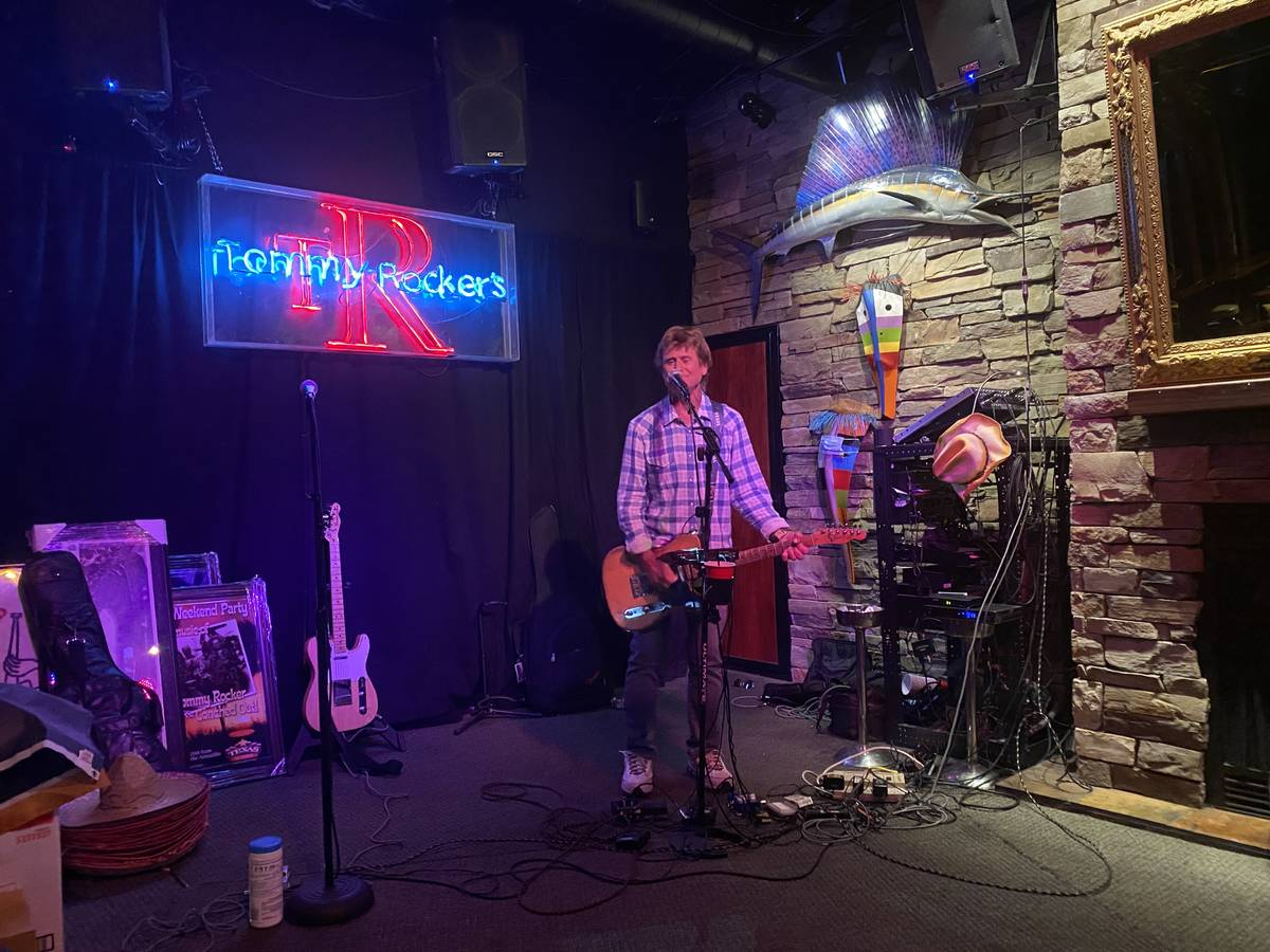 Tommy Rocker performs Saturday, May 23, 2020, at Tommy Rocker's Mojave Beach Bar & Grill in L ...