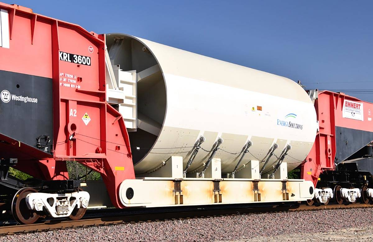 KRL 3600 is the biggest train car in the world. It is shown near Barstow, California, on Monday ...