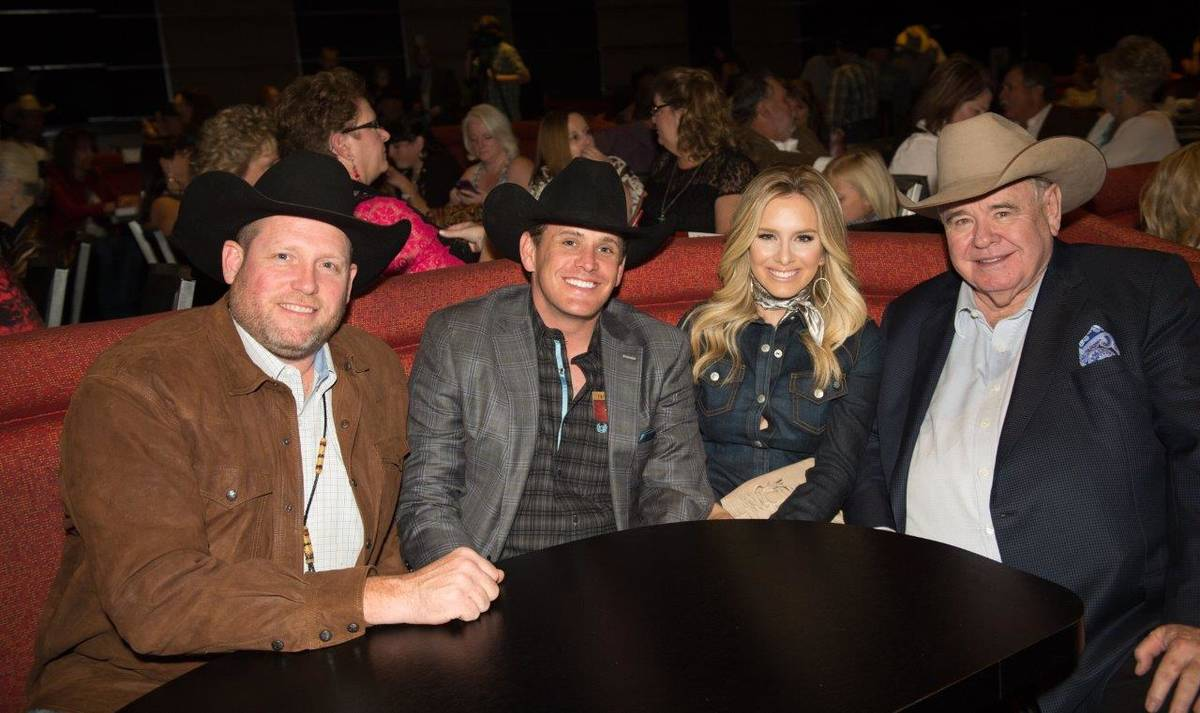 PBR CEO Sean Gleason, South Point GM Ryan Growney, country singer Sierra Black and South Point ...