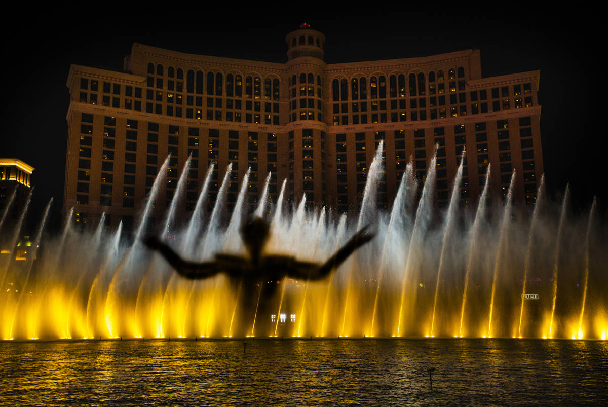 """The king emerges during the debut of the new water show based on """"Game of Thrones"""" at ..."""