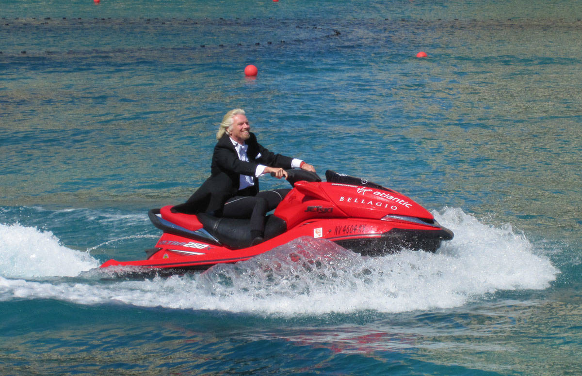 Sir Richard Branson at The Bellagio Fountains on Wednesday, June 16, 2010, in Las Vegas. (Courtesy)