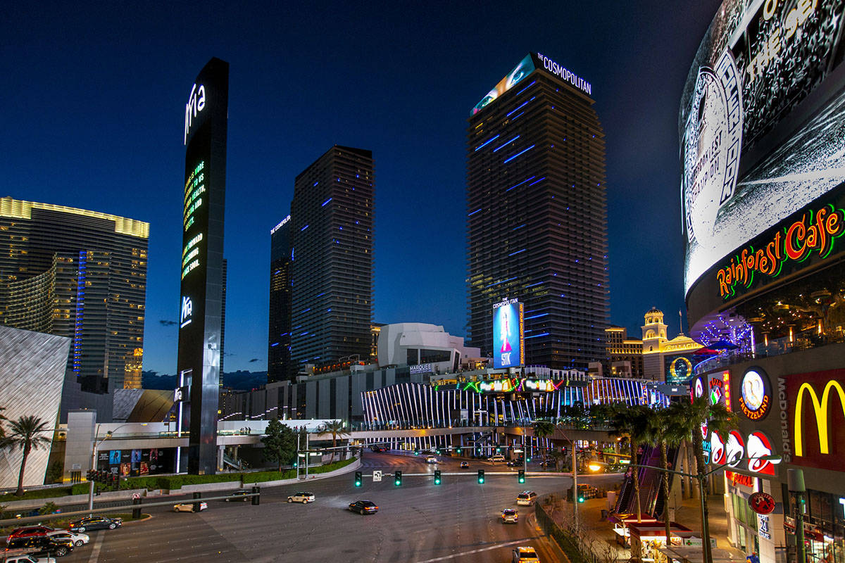 The Cosmopolitan of Las Vegas is temporarily closing, on Tuesday, March 16, 2020 in Las Vegas. ...