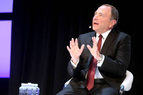 NHL commissioner Gary Bettman on a sports betting panel during the 2019 Global Gaming Expo at t ...