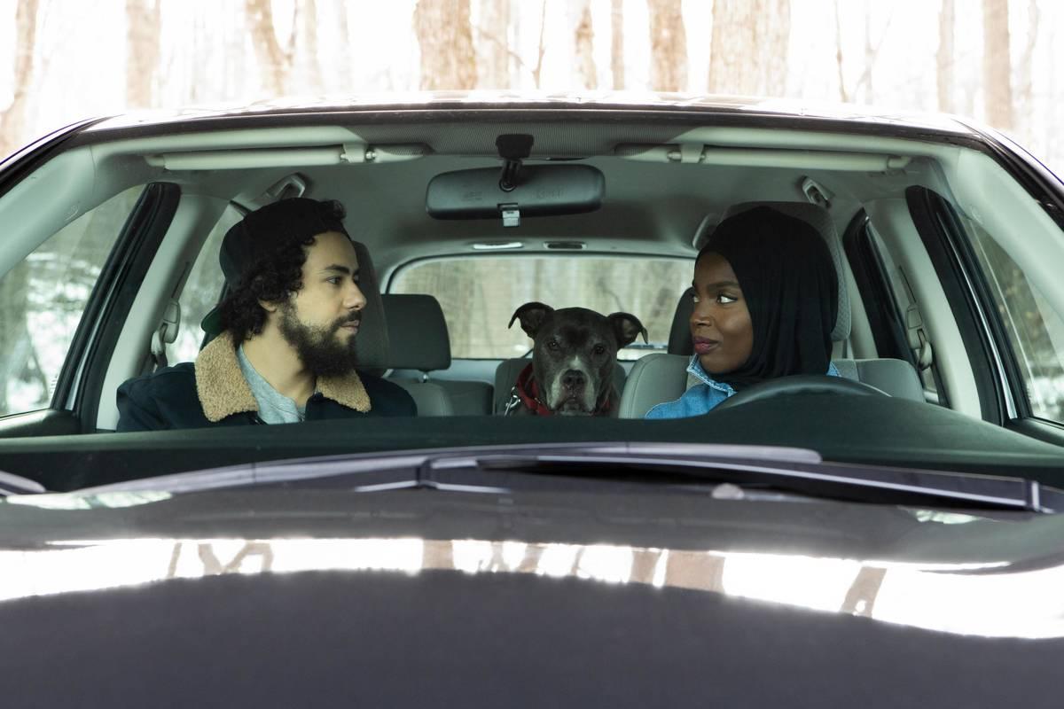 "Ramy (Ramy Youssef) and Zainab (MaameYaa Boafo) appear in a scene from Hulu's ""Ramy."" (Craig Bl ..."