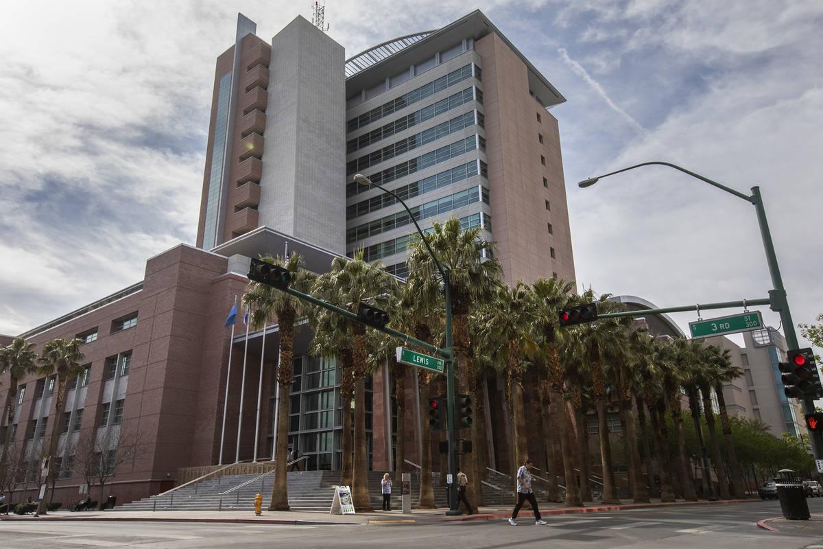 The Regional Justice Center as seen on March 6, 2020, in Las Vegas. (Ellen Schmidt/Las Vegas Re ...
