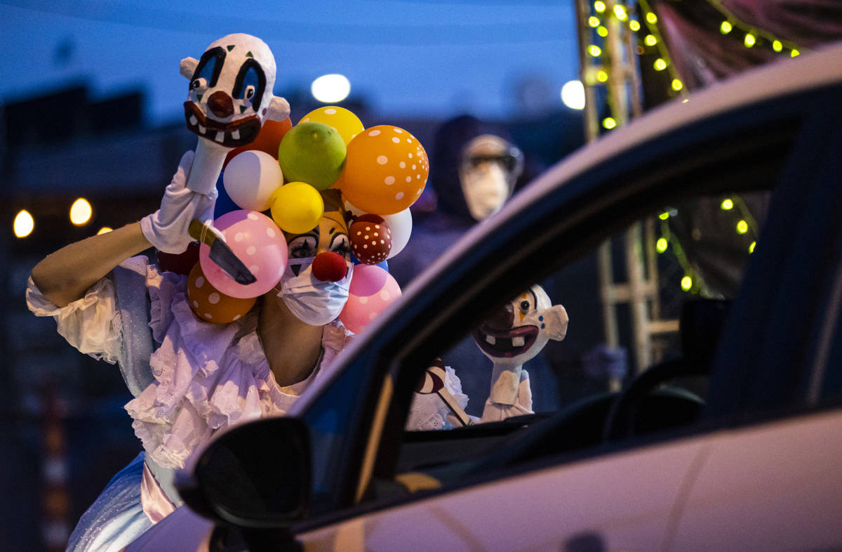 Heidi Rider performs as part of the Majestic Drive-Thru Theatre outside of the Majestic Reperto ...