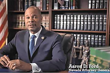 Nevada Attorney General Aaron Ford (Screenshot/Nevada Attorney General's Office)