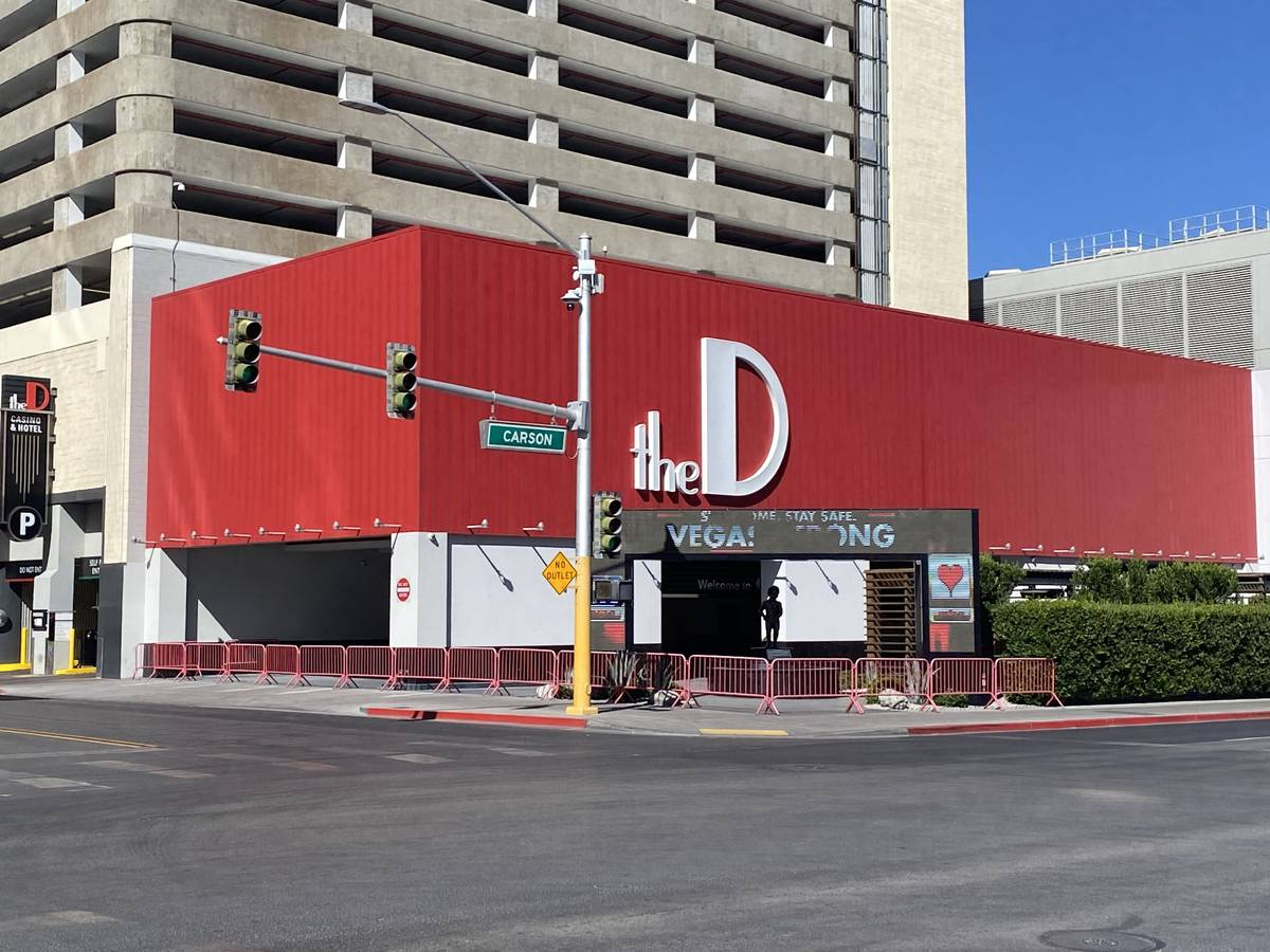 A look at the D Las Vegas, temporarily closed for COVID-19, on Tuesday, May 26, 2020. (John Kat ...