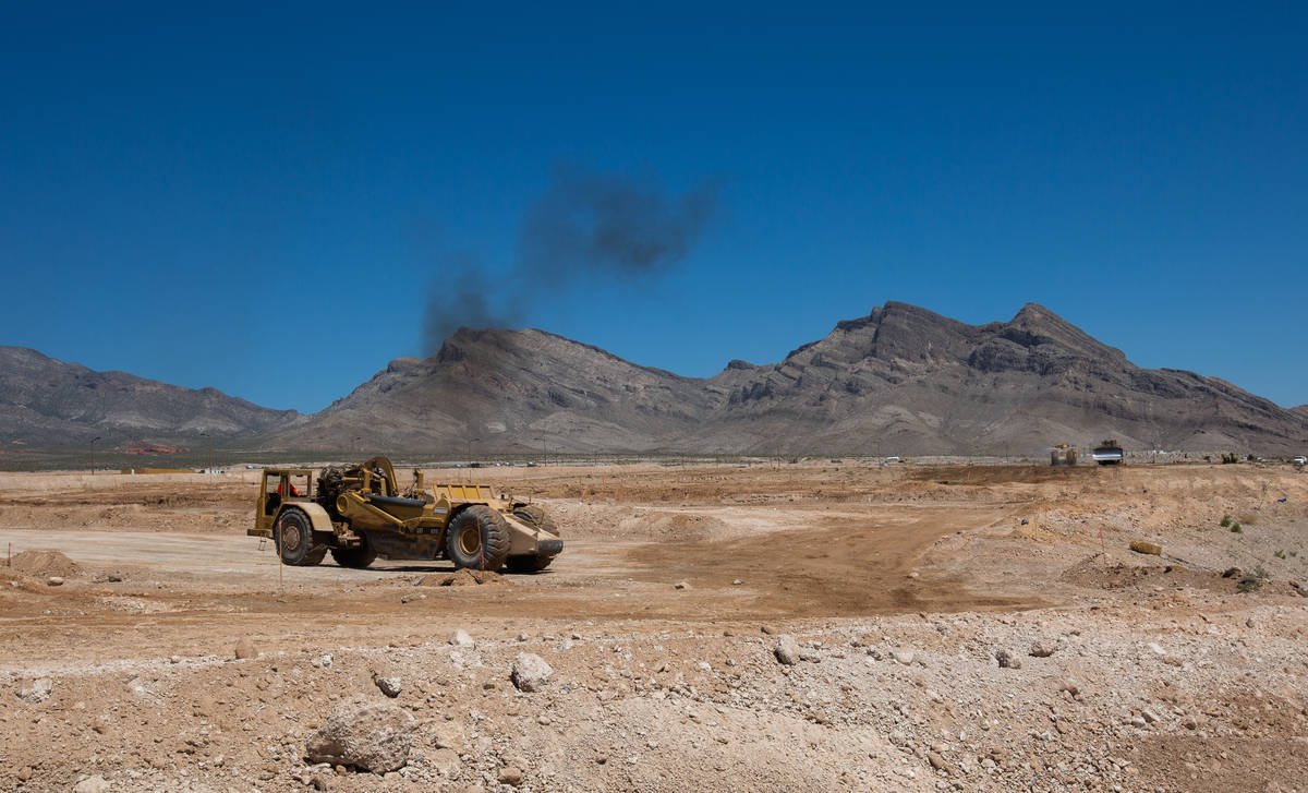 Land under development in Summerlin is seen on Friday, May 29, 2020, in Las Vegas. (Chris Day/L ...