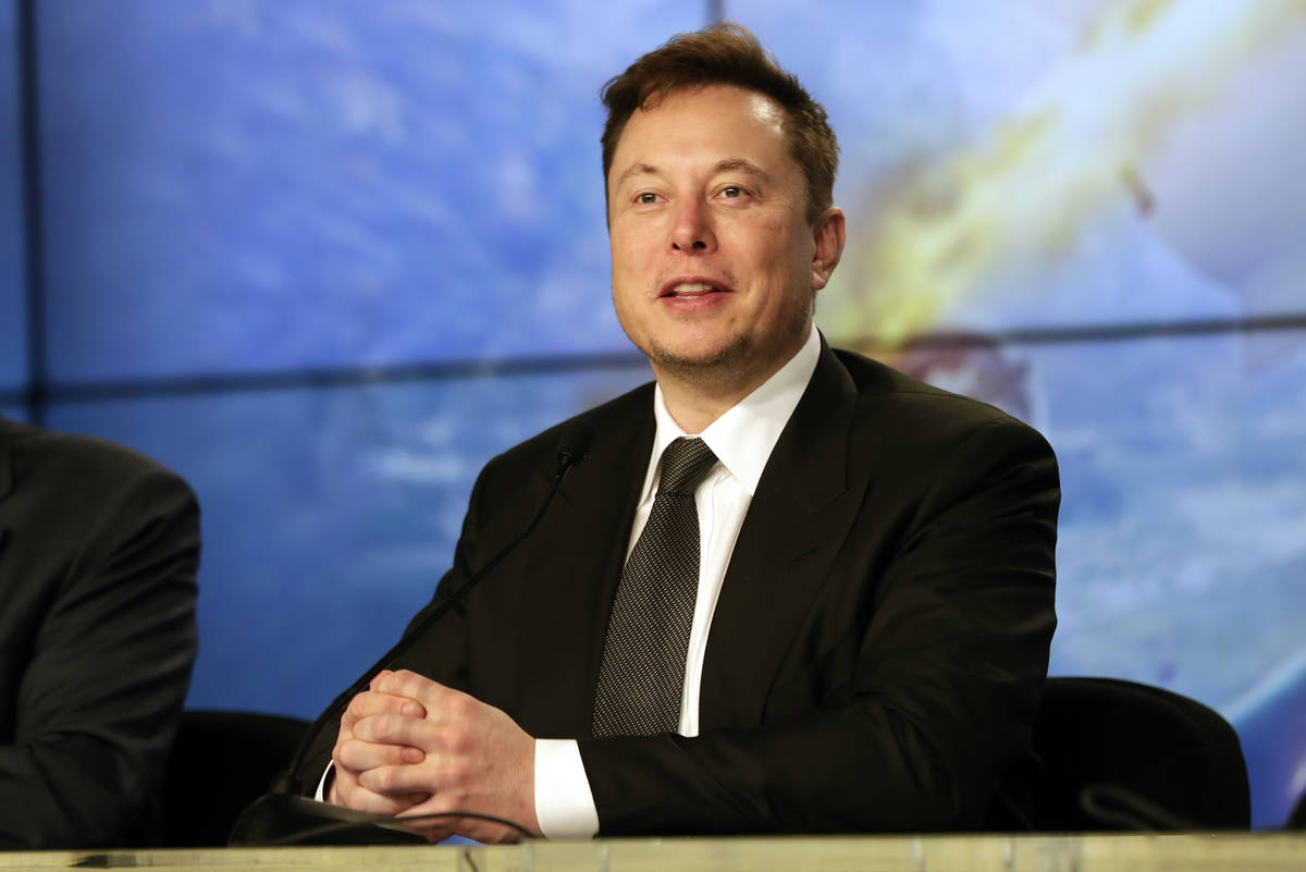 In this Sunday, Jan. 19, 2020, file photo, Elon Musk founder, CEO, and chief engineer/designer ...