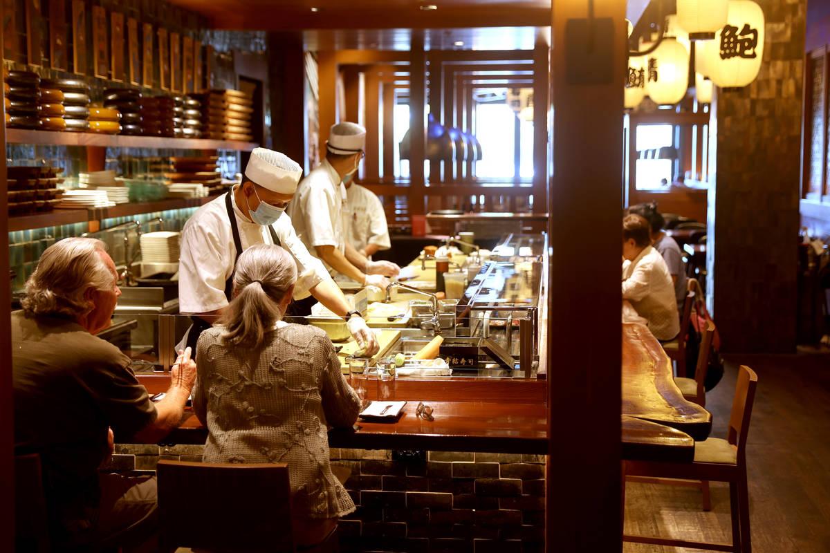 Blue Ribbon Sushi Bar & Grill at Red Rock Resort in Las Vegas Tuesday, May 26, 2020. Restau ...