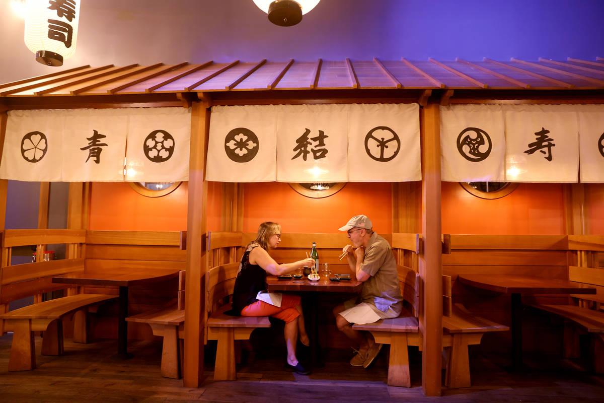 Kim and Rich Webb of Las Vegas at Blue Ribbon Sushi Bar & Grill at Red Rock Resort in Las V ...