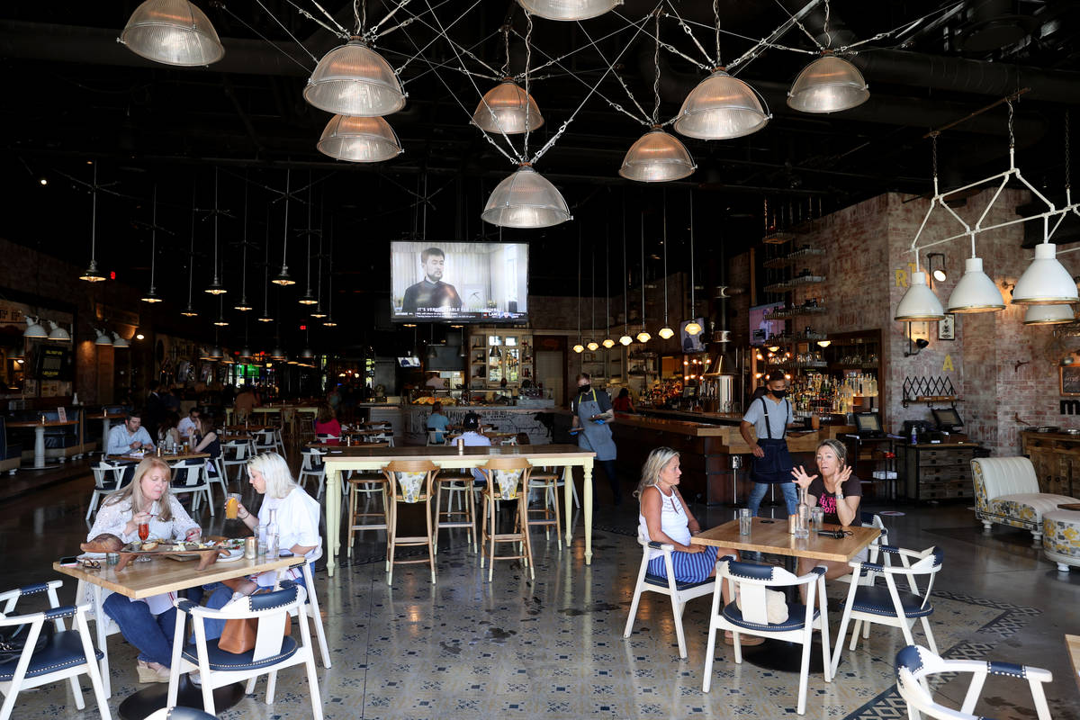 Hearthstone Kitchen & Cellar at Red Rock Resort in Las Vegas Tuesday, May 26, 2020. Restaur ...