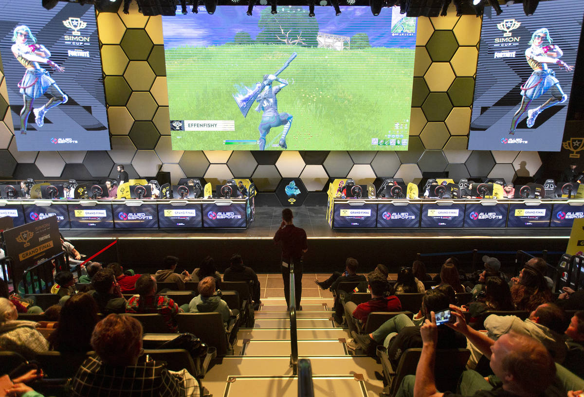 The Simon Cup tournament is in session on Saturday, Nov. 23, 2019, at HyperX Esports Arena at L ...