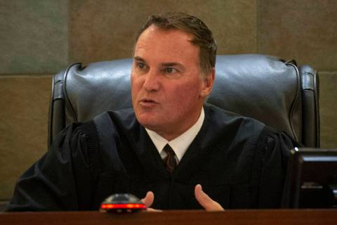 Judge William Kephart presides over the Christopher Sena case, who is convicted of 95 counts in ...