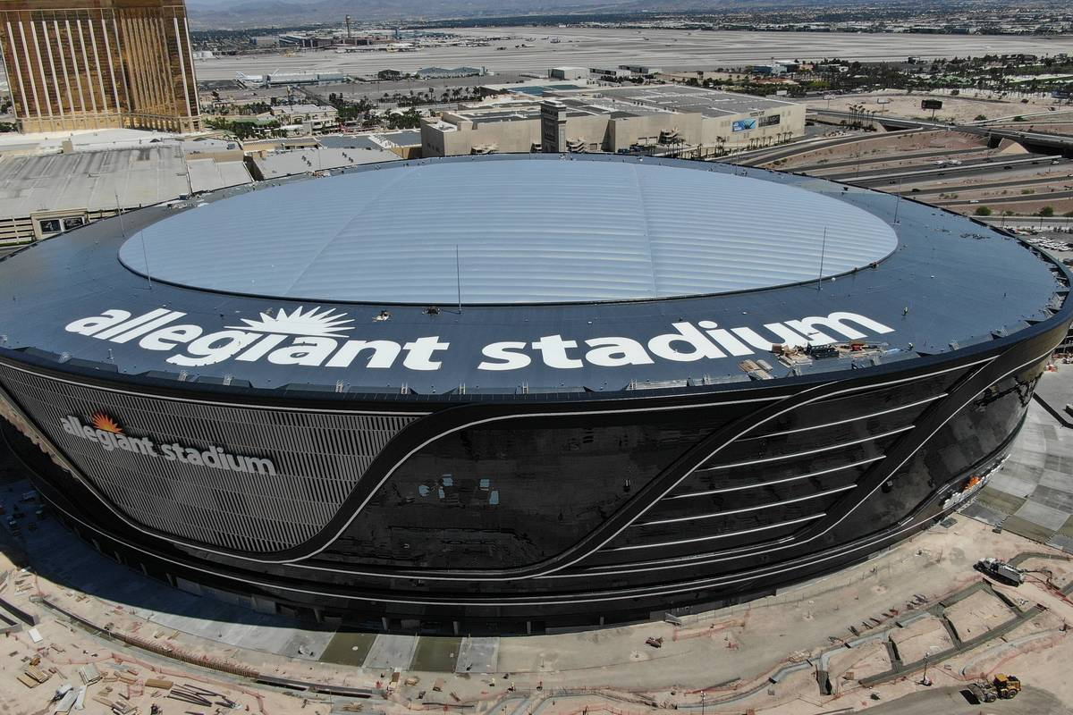 Aerial view of Allegiant Stadium (Michael Quine/Las Vegas Review-Journal) @Vegas88s