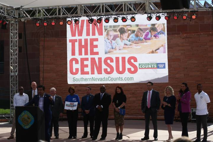 Government official including North Las Vegas Councilman Isaac Barron participate during the So ...