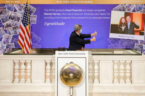 IMAGE DISTRIBUTED FOR THE NEW YORK STOCK EXCHANGE - The NYSE's honorary Closing Bell ringers, M ...