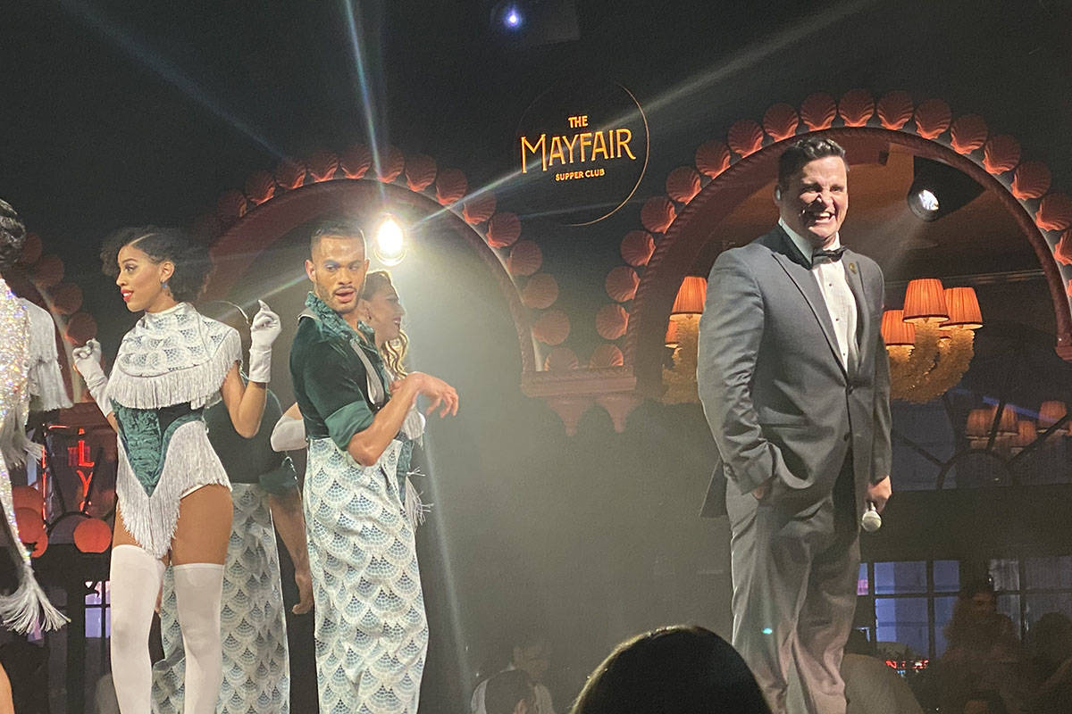 Steve Judkins is shown at Mayfair Supper Club on Monday, Dec. 30, 2019. (John Katsilometes/Las ...