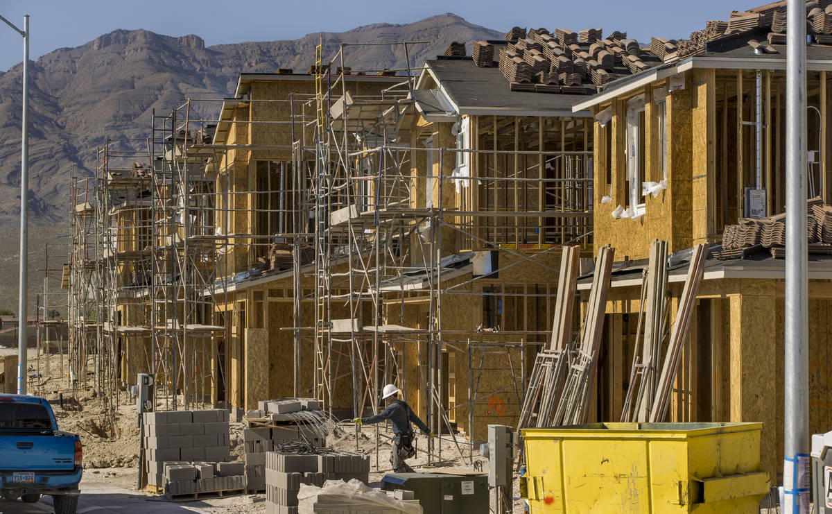 New home construction continues on a D.R. Horton community housing project in the northwest Las ...