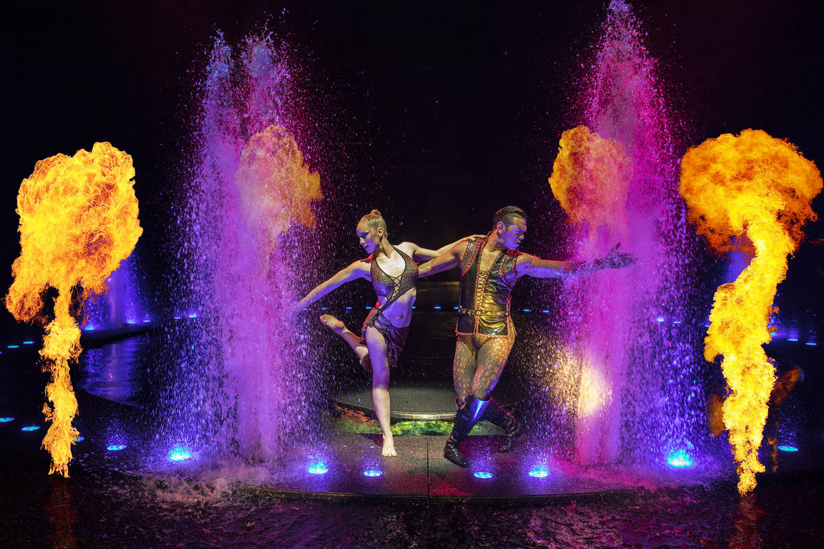 "A scene from ""Le Reve,"" the signature production at Wynn Las Vegas. (Tomasz Ross)"