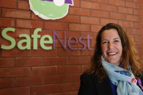 Liz Ortenburger, CEO of SafeNest, is pictured on Dec. 7, 2017. (Bizuayehu Tesfaye/Las Vegas Rev ...