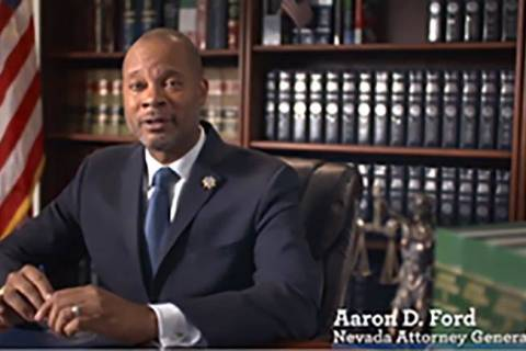 Nevada Attorney General Aaron Ford has signed Nevada onto an amicus brief that supports Harvard ...