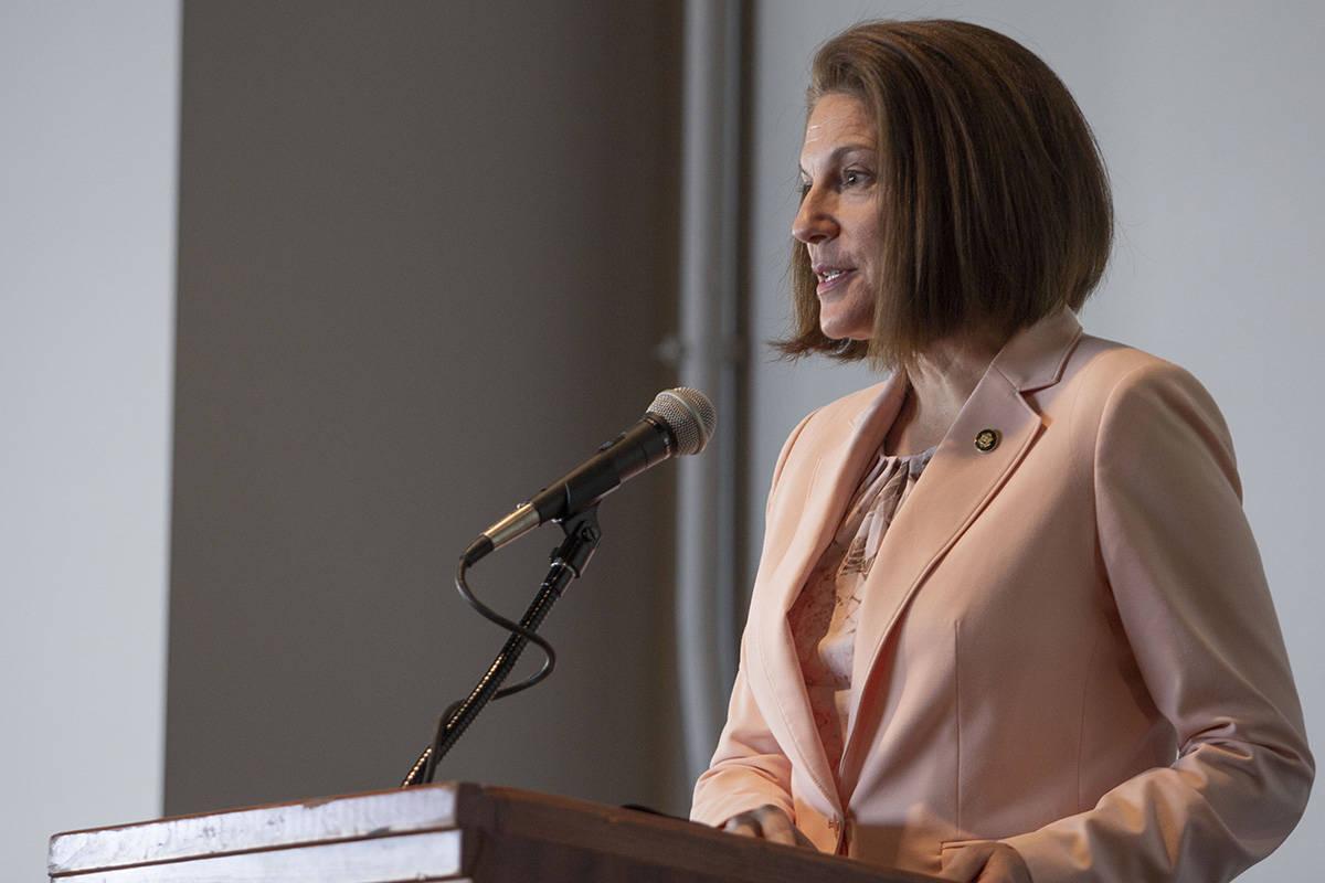 U.S. Sen.Catherine Cortez Masto, D-Nev.,discuses her hopes for sustainable energy i ...