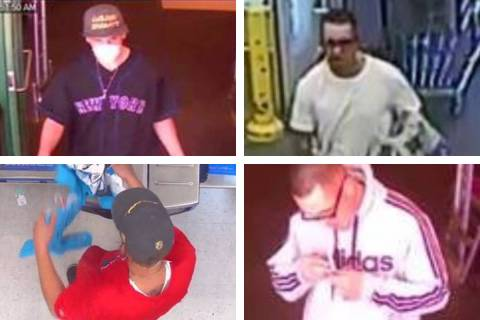 Police are looking for two men in connection to a credit card theft that occurred Wednesday, Ap ...