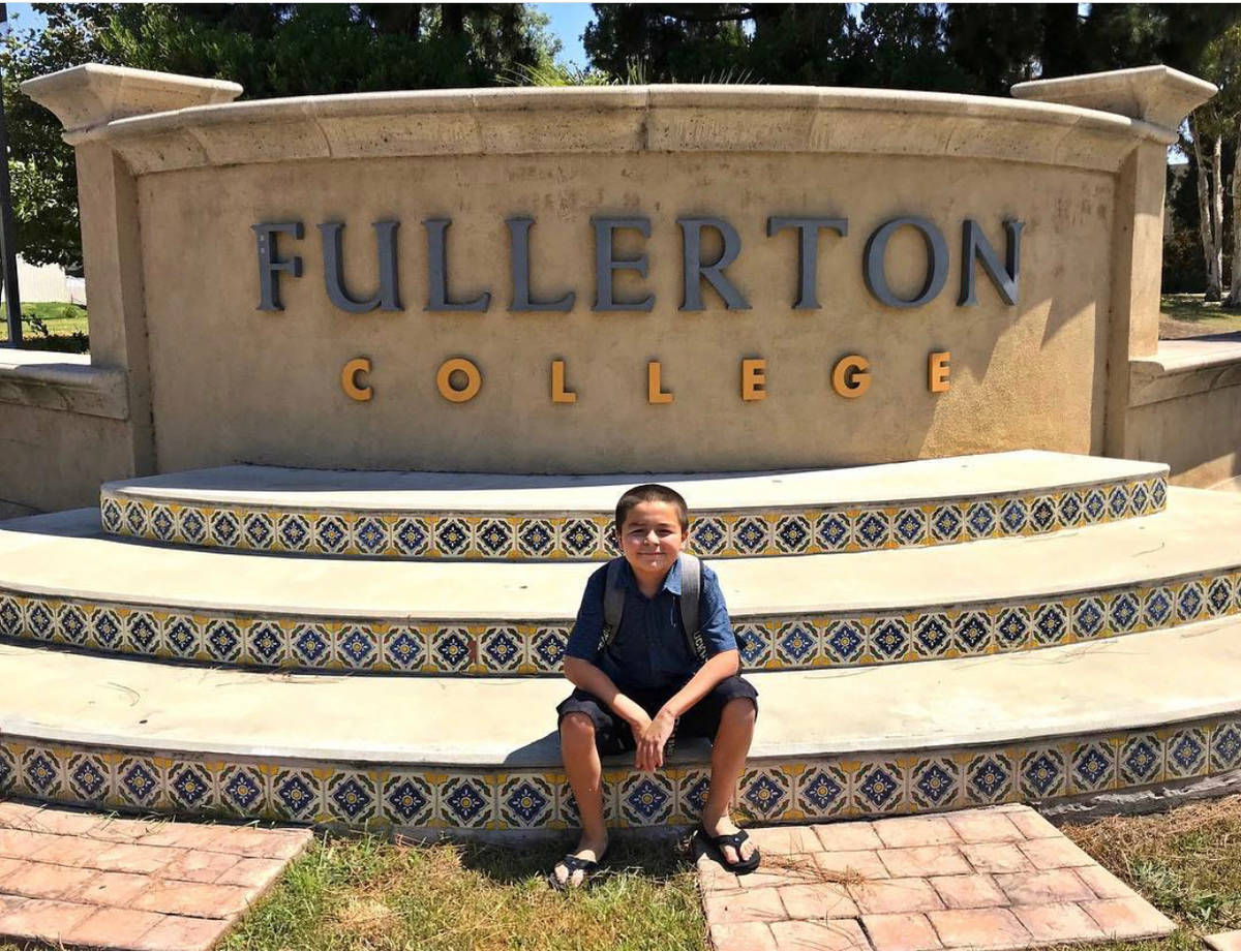 Jack Rico, 13, graduated with four associate degrees and a 4.0 GPA from Fullerton College in Ca ...