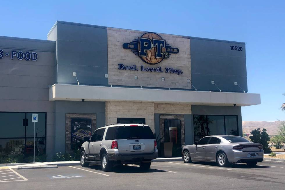 PT's Gold bar at Cactus Avenue and Las Vegas Boulevard South was one of the few PT's locati ...