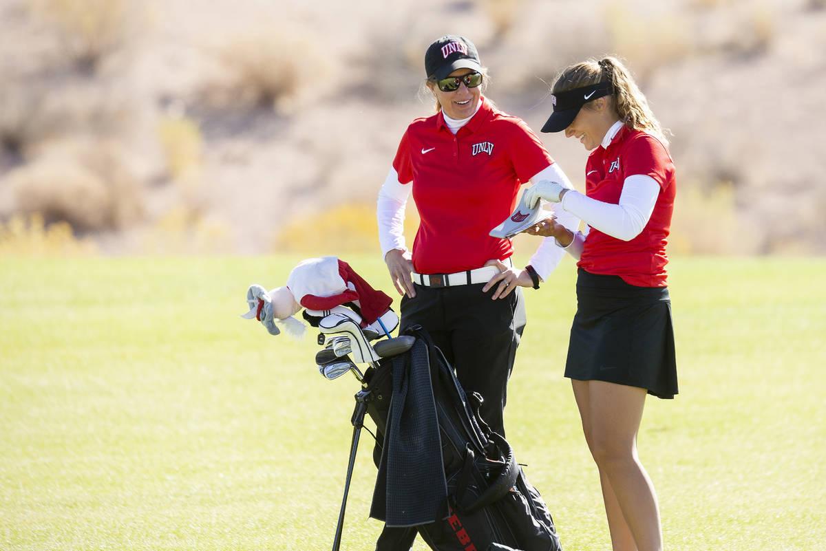 Amy Bush-Herzer and Elina Saksa during the UNLV Women's Golf Tournament - Las Vegas Collegiate ...