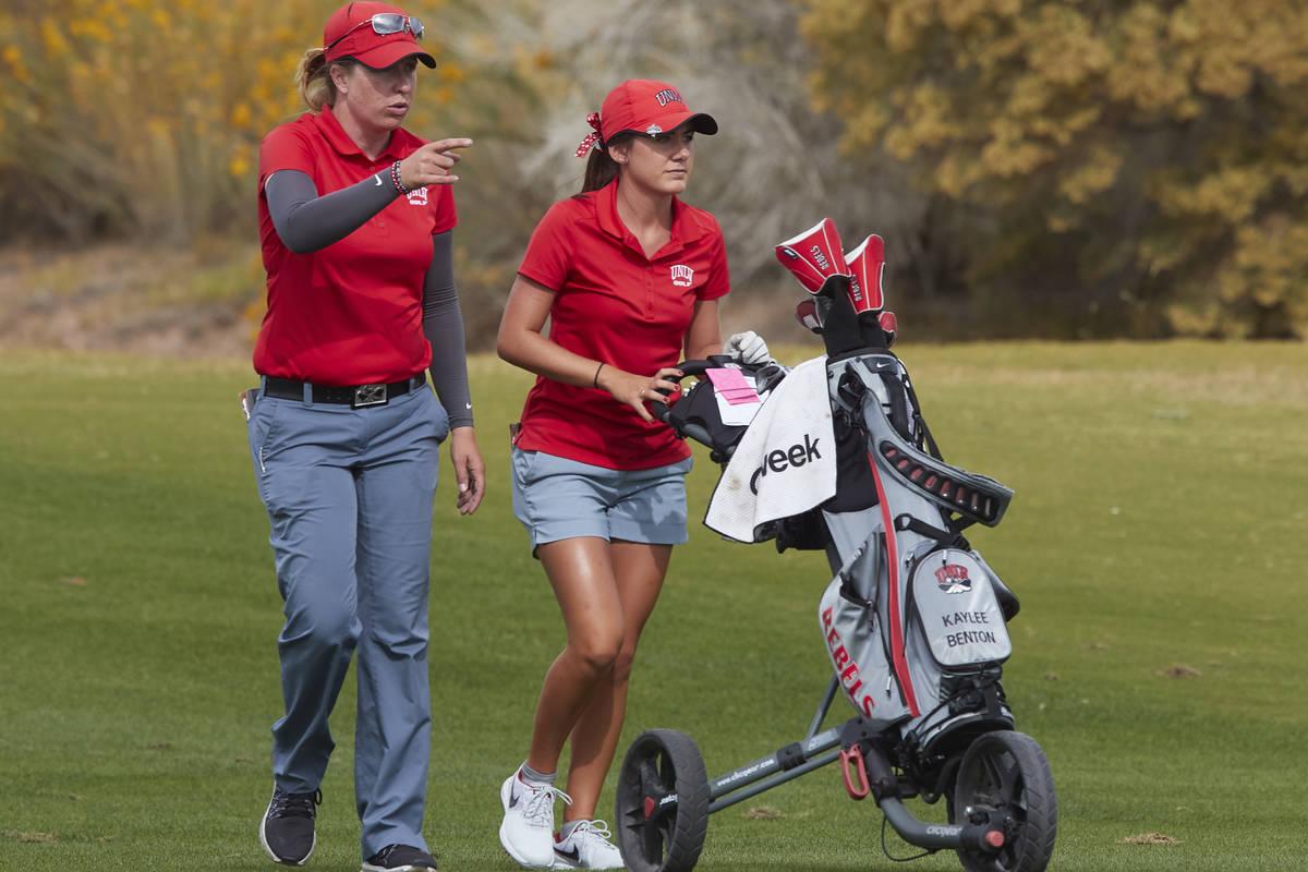 Amy Bush-Herzer (left) is in the midst of her seventh season as the UNLV women's golf coach. (U ...