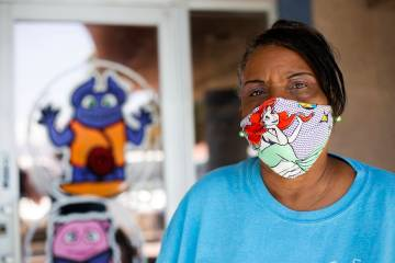 Kim Morgan-Smith stands in front of Watch Me Grow, the day care center where she works, on Frid ...