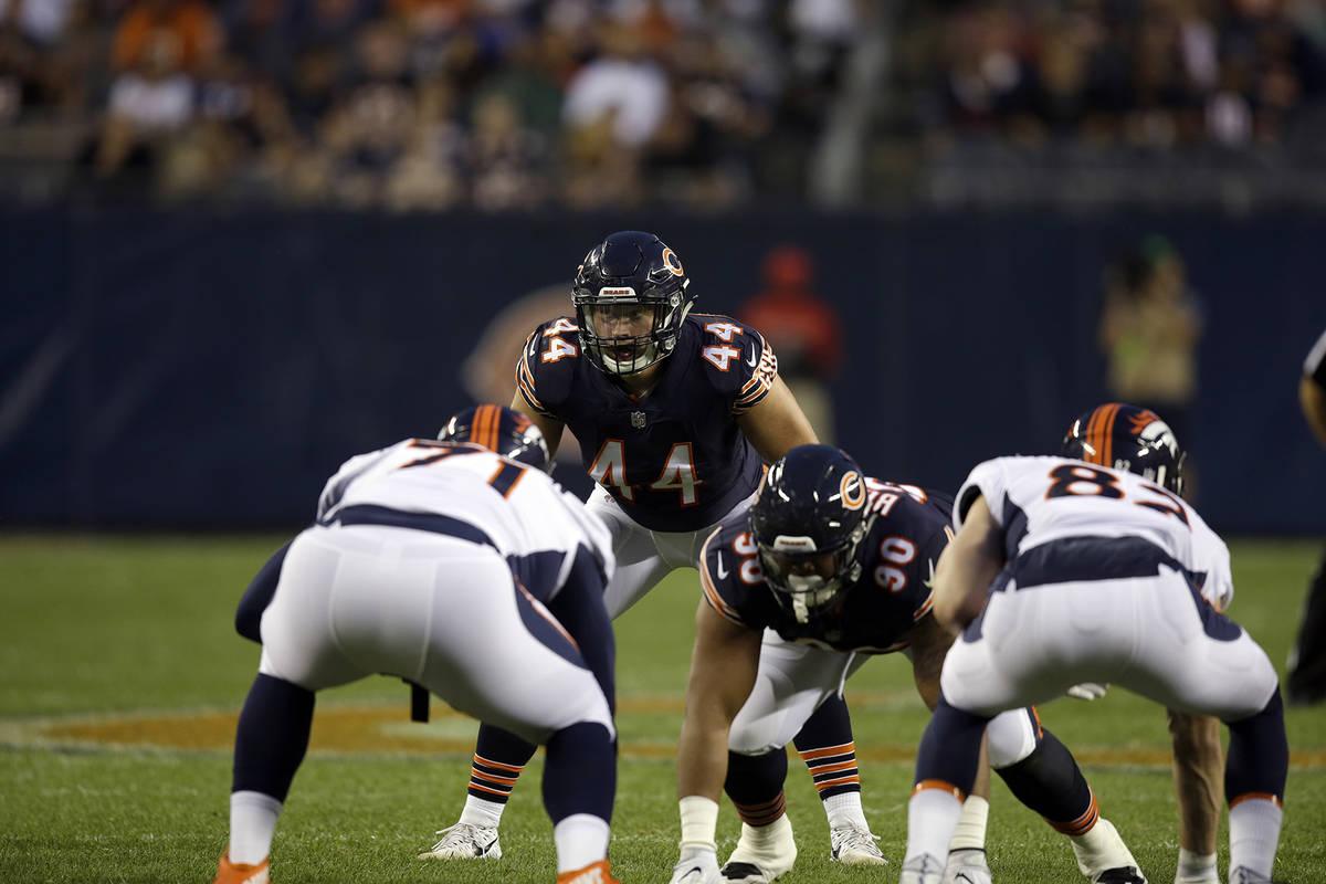 Chicago Bears inside linebacker Nick Kwiatkoski (44) during the first half of an NFL preseason ...