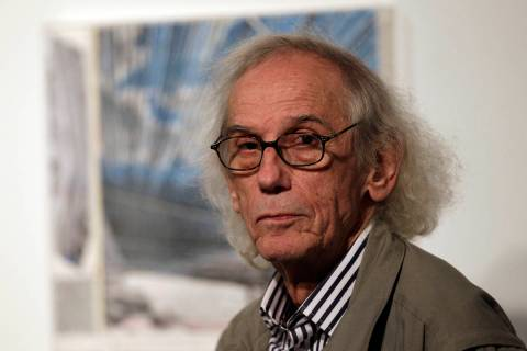 The artist Christo, shown in 2013, has died. He was 84. Christo and his late wife, Jeanne-Claud ...