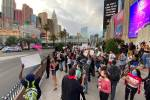 Black Lives Matter protesters say police fired rubber bullets on Strip