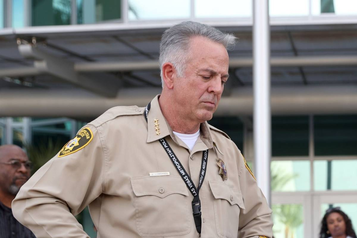 Clark County Sheriff Joe Lombardo (K.M. Cannon/Las Vegas Review-Journal) @KMCannonPhoto