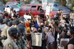 George Floyd protest on Strip results in 2 injured officers, multiple arrests