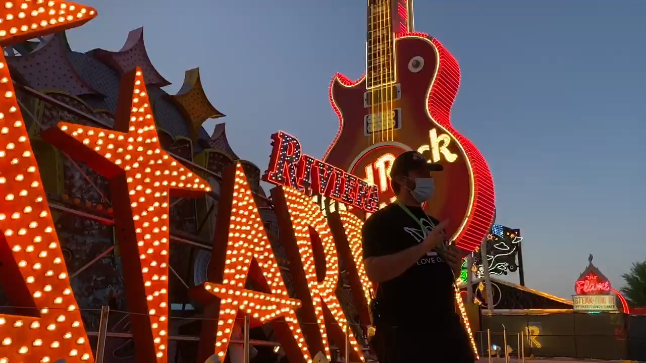 Neon Museum reopens to sold-out tickets, first-time visitors