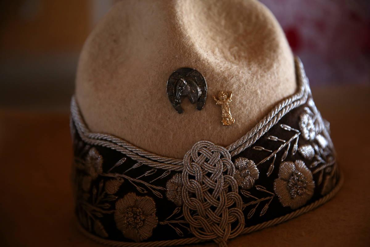 Silver embroidery adorns Vanessa Jauregui's sombrero. (Erik Verduzco/Las Vegas Review-Journal) ...
