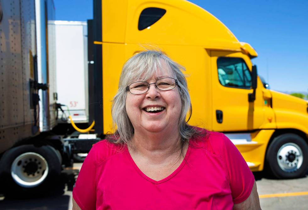 Former truck driver Barbara Grantham created care packages for truckers and handed them out for ...