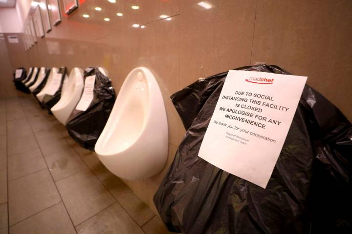 If public restrooms don't have dividers between their urinals, every other one could be blocked ...