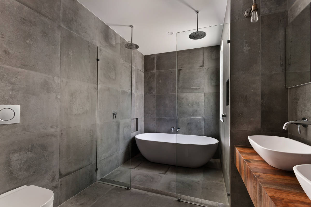 Las Vegas architect Michael Gardner said luxury home design is turning bathrooms into resort-li ...