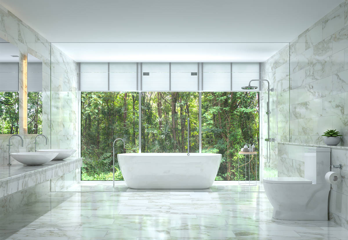 Experts say a trend of luxury homes including bathrooms with wetrooms is growing. The room is e ...