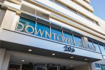 The Downtown Grand is opening its hotel on Monday, June 1, 2020. (Benjamin Hager/Las Vegas Revi ...