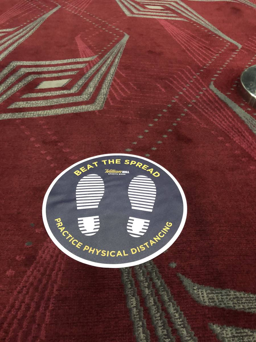 Floor signage will be placed at William Hill and other Nevada sportsbooks to ensure customers w ...