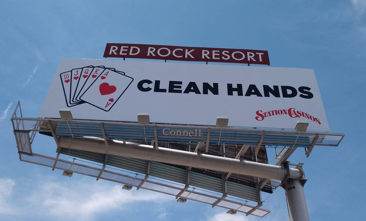 A new Station Casino billboard promoting the COVID-19 safety protocols. (Station Casinos)
