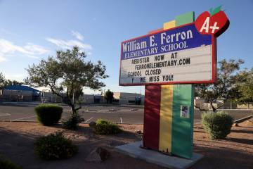Ferron Elementary School in Las Vegas Wednesday, May 27, 2020. (K.M. Cannon/Las Vegas Review-Jo ...