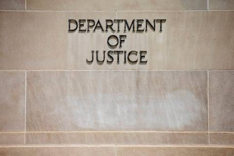 U.S. Department of Justice Building in Washington. (AP Photo/Andrew Harnik)